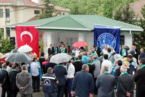 Kuleli Mahallesi muhtarlığının açılışı sağanak yağmura rağmen yoğun katılımla gerçekleştirildi