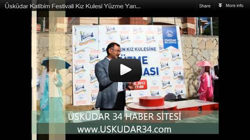 Üsküdar Belediyesi 24.'ncü Uluslararası Katibim Festivali 3.'ncü Kız Kulesi Yüzme Yarışları.