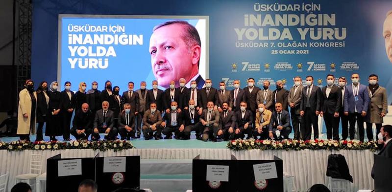 AK Parti Üsküdar 7. Olağan İlçe Kongresi, Çamlıca Spor Okulu'nda gerçekleşti