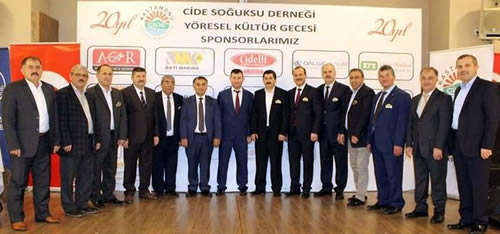 Merkezi Çengelköy'de bulunan Kastamonu Cide Soğuksu Derneği, düzenlediği bir geceyle kuruluşunun 20. yılını kutladı.