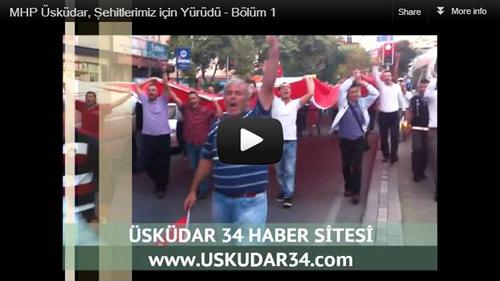 Üsküdar Zeynep Kamil Hastanesi önünden başlayan yürüyüş Üsküdar İskelesi önünde son buldu.