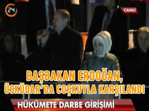 Başbakan Erdoğan, Üsküdar'da halka seslendi