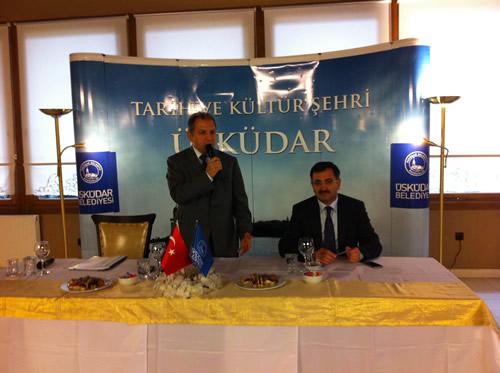 Üsküdar Kaymakamı Süleyman Erdoğan, 6 Ocak 2011 Perşembe günü Üsküdar Belediyesi Sosyal Tesisleri'nde Üsküdar da faaliyet gösteren Sivil Toplum Kuruluşları ile bir araya getirdi.