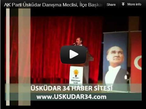 AK Parti Üsküdar İlçe Başkanlığı, 4. olağan kongre'nin ardından ilk yerel yönetimler gündemli danışma meclisi toplantısını 6 Nisan 2012 Cuma İlçe Başkanı Sinan Aktaş'ın konuşması...