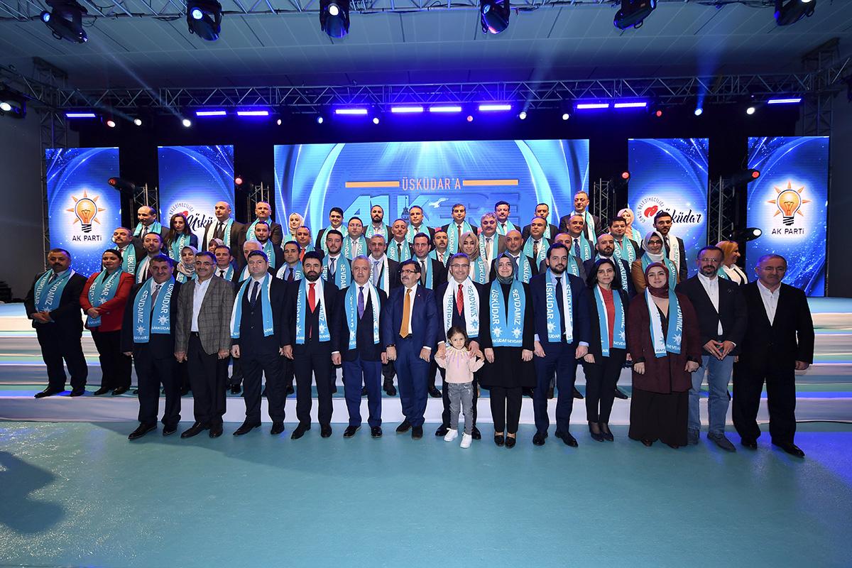 AK Parti ve MHP tarafından Üsküdar'da Cumhur İttifakının belediye meclis üyeleri tanıtıldı.
