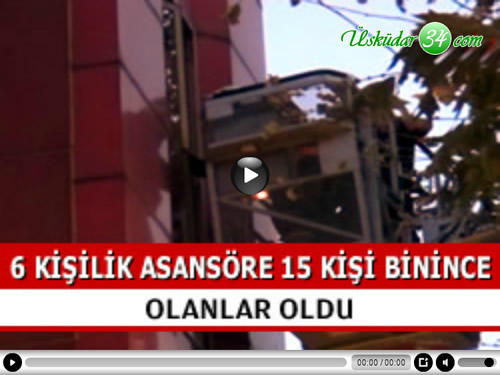 Üsküdar'ın önemli otelleri arasında bulunan Sözbir otelde 6 kişilik asansöre binen 5'i çocuk 15 kişi mahsur kaldı.