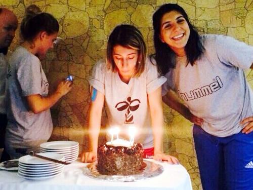 Üsküdar Belediyespor Bayan Hentbol Takımı, Halime Cemre Beykurt doğum günü