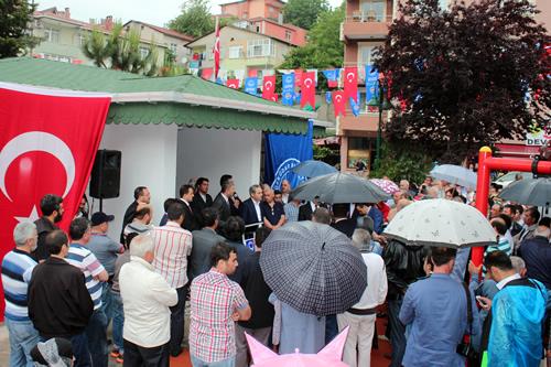 Başkan Hilmi Türkmen, Güzeltepe Mahallesi'ndeki yeni muhtarlık hizmet binasının açılışında imar konusuyla ilgili olarak açıklamalar yaptı