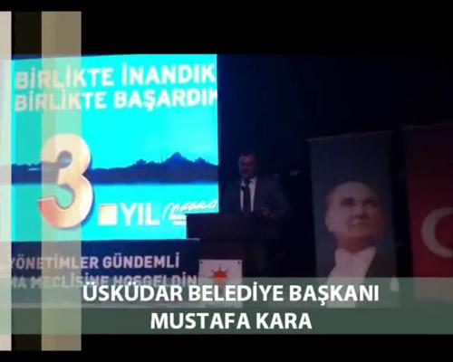 AK Parti Üsküdar İlçe Başkanlığı, 4. olağan kongre'nin ardından ilk yerel yönetimler gündemli danışma meclisi toplantısını 6 Nisan 2012 Cuma Belediye Başkanı Mustafa Kara'ın konuşması...