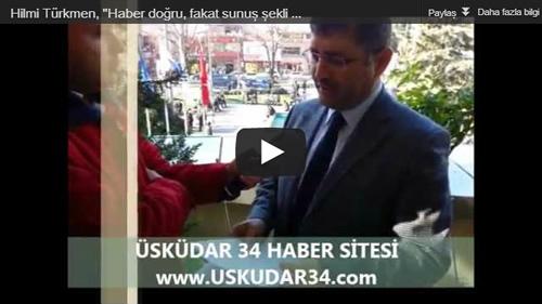 Saygı Öztürk'ün haberine Üsküdar Belediye Başkan Yardımcısı Hilmi Türkmen'den cevap geldi.