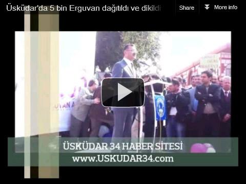 Üsküdar Belediye Başkanı Mustafa Kara ise yaptığı konuşmada 1352 yılından beri İstanbul'un Kapısı konumundaki Üsküdar'ın ayrıca Mor Salkımlar ve Erguvanlar Şehri olduğunu belirterek bu nedenle Bakanlık ile işbirliği halinde fidan dağıtımına ilçelerinde başlandığını belirtti.