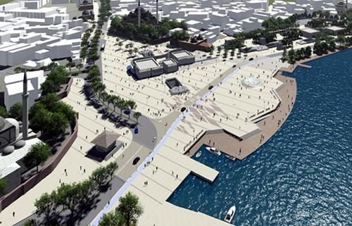 İstanbul Büyükşehir Belediyesi tarafından yürütülen Üsküdar Meydan Projesi'nde yayalaştırma çalışması yapılacak.