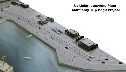 Marmaray projesi'nin Anadolu Yakası'ndaki tek yer altı istasyonu olan Üsküdar istasyonu'nda son kat çıkılıyor.