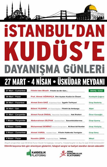 İstanbul'dan Kudüs'e Dayanışma Günleri Etkinlik Programı