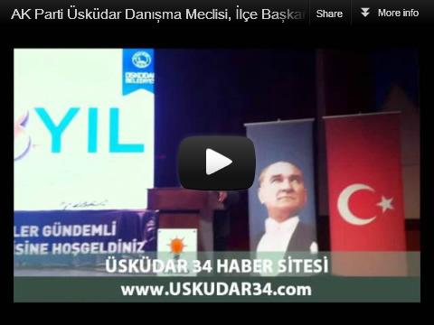 AK Parti Üsküdar İlçe Başkanlığı, 4. olağan kongre'nin ardından ilk yerel yönetimler gündemli danışma meclisi toplantısını 6 Nisan 2012 Cuma İlçe Başkan Yardımcısı Esat Kalay'ın konuşması...