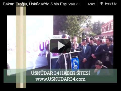 Orman ve Su İşleri Bakanı Veysel Eroğlu, bu yılı Erguvan Yılı ilan ettiklerini, İstanbul'da yıl içinde 100 bin fidan dağıtacaklarının müjdesini verdi.