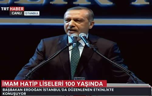 Başbakan Erdoğan, 100 Yıllık Hikaye İmam Hatip etkinliğinde konuştu.
