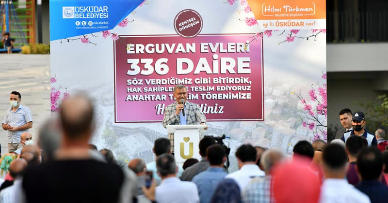 Erguvan Evleri projesine başlamadan önceki sıkıntılara değinen Türkmen, bugün çok özel bir gün yaşadıklarını ifade etti.