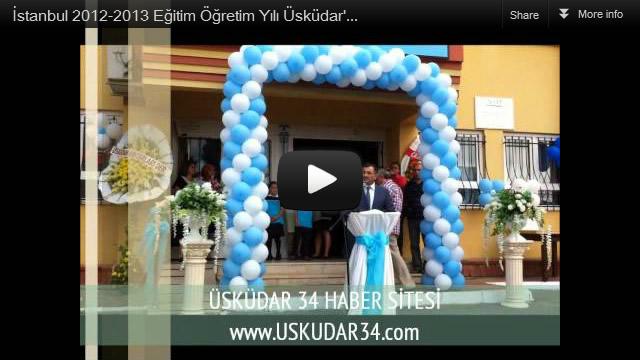2012-2013 eğitim-öğretim yılı Üsküdar Saffet Çebi İlköğretim okulunda yapılan törenle açıldı.