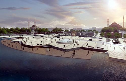 Üsküdar Meydan projesinde, güneyde Ahmediye Meydanı ile başlayan yaya aksı, Hakimiyeti Milliye Caddesi ile meydana açılacak.