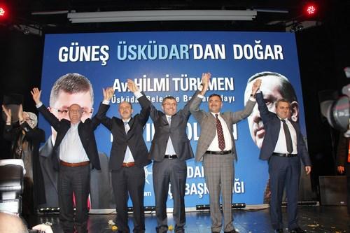 AK Parti Üsküdar İlçe Başkanlığı tarafından Üsküdar Belediye Başkan Adayı Hilmi Türkmen için 27 Ocak 2014 Pazartesi akşamı Bağlarbaşı Kongre Merkezi'nde tanıtım programı gerçekleştirildi.