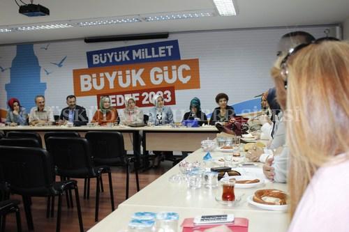 AK Parti ÜsküdarKadın Kolları'nın ilk toplantısı Songül Kavalcıoğlu'nun başkanlığında Üsküdar ilçe binasında gerçekleştirildi.