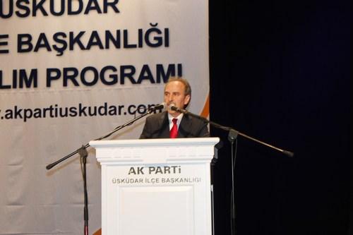 AK Parti Üsküdar İlçe Başkanı Sinan Aktaş, katılım programında konuşma yaptı