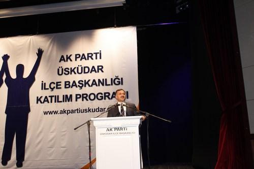 Üsküdar Belediye Başkanı Mustafa Kara, katılım programında konuşma yaptı