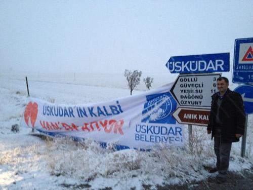 Üsküdar Belediye Başkanı Mustafa Kara Hac'dan geldiği sabah ilk uçakla gittiği Van'a gitti.