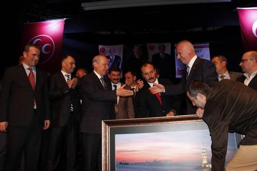MHP Genel Başkanı Devlet Bahçeli, Üsküdar İlçe Başkanlığı'nın düzenlediği Belediye Meclis Üyesi tanıtım toplantısına katıldı.