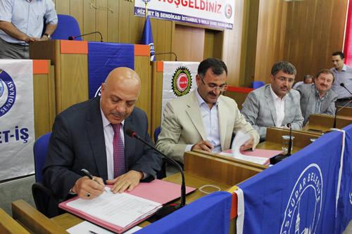 Üsküdar Belediyesi ile Hizmet-İş Sendikası arasında 2 yılı kapsayan Toplu İş Sözleşmesi imzalandı.