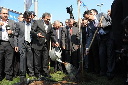 21-26 Mart Orman Haftası nedeniyle Orman Bakanlığı ve Üsküdar Belediyesi işbirliği ile Üsküdar'da vatandaşlara 5 bin erguvan dağıtıldı.