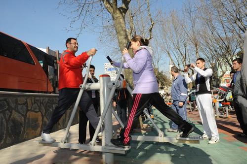 Üsküdar parkları ''Bilimsel Spor'' ile güzelleşiyor...