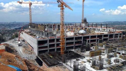 Çamlıca Camii?nin % 50?si tamamlandı. 1 Temmuz 2016 günü açılması planlanıyor...