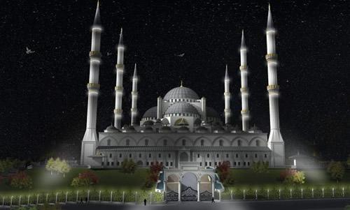 İstanbul'un yeni sembollerinden biri olmaya aday Çamlıca Tepesi'ne inşa edilecek caminin projesi açıklandı.