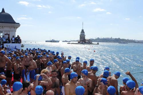 Üsküdar Belediyesi 24.'ncü Uluslararası Katibim Festivali 3.'ncü Kız Kulesi Yüzme Yarışları