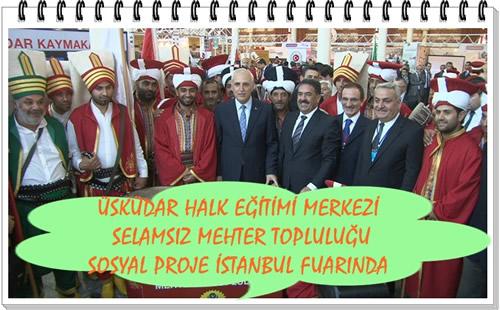 Üsküdar Kaymakamlığı Feshane'de düzenlenen sosyal projelerin tanıtıldığı ''Proje İstanbul Fuarı''nda Üsküdar'ı temsil etti.