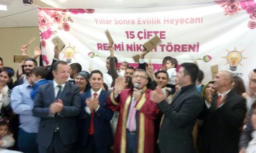 Üsküdar'da 15 Roman çift toplu nikah töreniyle dünya evine girdi