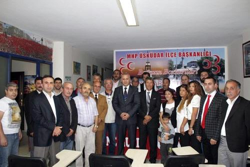 MHP gurup başkan vekili Kayseri Milletvekili Yusuf Halaçoğlu, MHP Üsküdar İlçe Teşkilatını ziyaret etti.