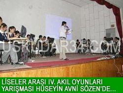 Liseler Arası IV. Akıl Oyunları Yarışması