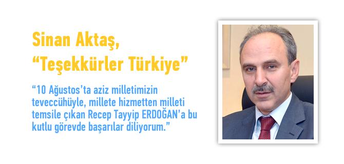 AK Parti �sk�dar �l�e Ba�kan� Sinan Akta�'dan Te�ekk�r Mesaj�