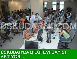 Üsküdar'da bilgi evi sayısı artıyor...