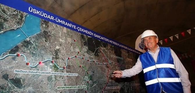 Başkan Topbaş Üsküdar-Sancaktepe Metrosu'nda