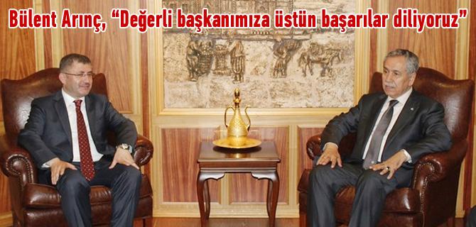 Bülent Arınç'dan Hilmi Türkmen'e hayırlı olsun ziyareti