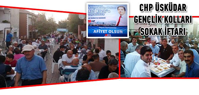 CHP �sk�dar Gen�lik Kollar� sokak iftar� d�zenledi