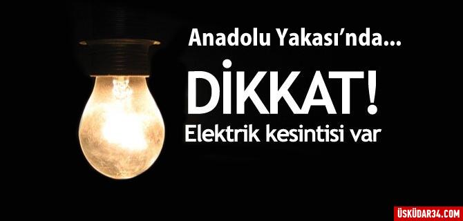 Anadolu Yakas�'nda elektrik kesintisi!