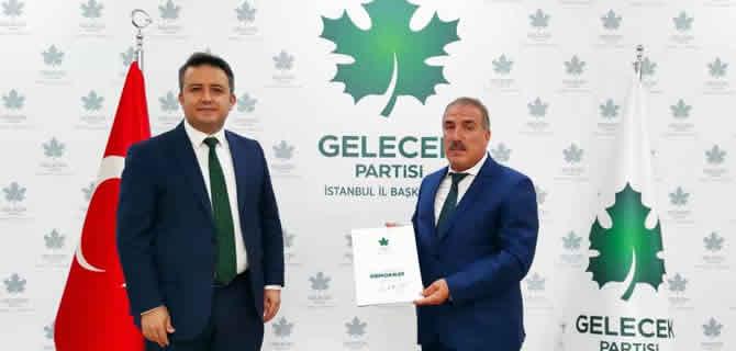 Gelecek Partisi Üsküdar İlçe Başkanlığına Ramazan Bulum atandı