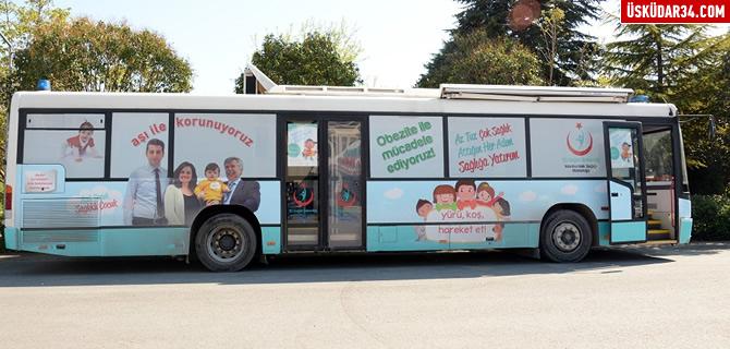 ''Gezici Sağlık Otobüsü''  İstanbul sokaklarında