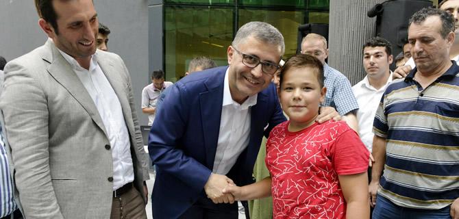 Hilmi Türkmen belediye personeliyle bayramlaştı