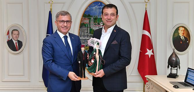 İBB. Başkanı Ekrem İmamoğlu, Üsküdar Belediyesi'ni ziyaret etti